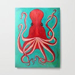 A big red octopus; sea creatures Metal Print