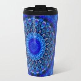 Mandala blue 1 Travel Mug