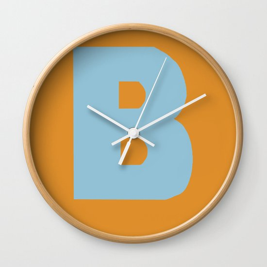Blue B Wall Clock