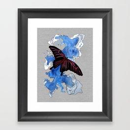 Butterfly II ink by carographic, Carolyn Mielke Framed Art Print