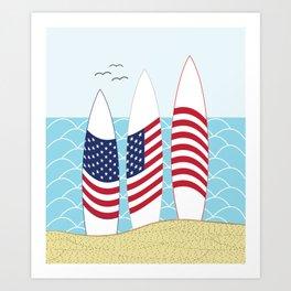 Surfing USA Art Print
