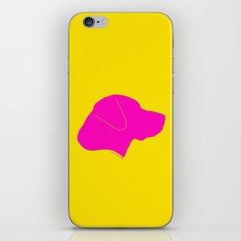 LABRADOR PINK ON YELLOW iPhone Skin