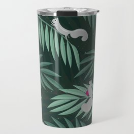 Palm Leaves & Squirrels Travel Mug