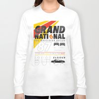 the national Long Sleeve T-shirts featuring Grand National by CynthiaLeduc