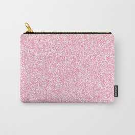 Spacey Melange - White and Flamingo Pink Carry-All Pouch