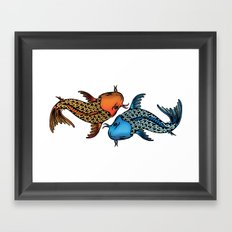 Coyfish Framed Art Print