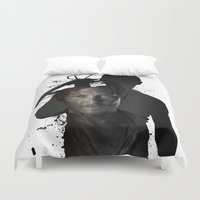 daryl Duvet Covers featuring Walking Dead Daryl Dixon by pizza_dudes_got_30seconds
