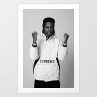asap rocky Art Prints featuring ASAP by POSH OUTSIDERS