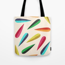 Feathers II Cascading Colors Tote Bag