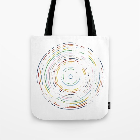Rainbow Record Tote Bag
