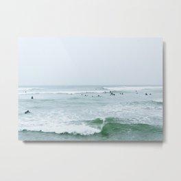 Tiny Surfers Lima, Peru 3 Metal Print