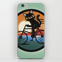 Bike touring iPhone Skin