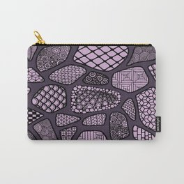 Patterned purple stone floor Carry-All Pouch