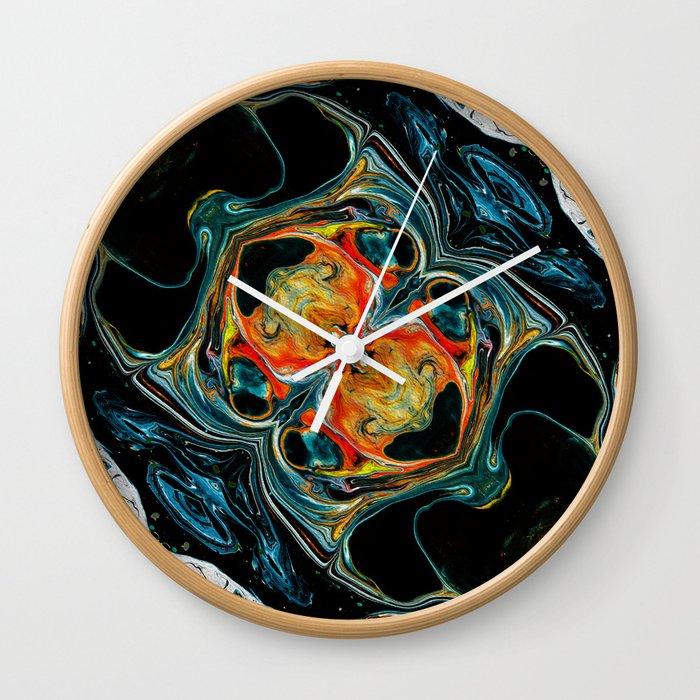 Abstract Liquid Art Wall Clock By Hypnoboy Society6