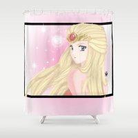 zelda Shower Curtains featuring Zelda  by LARiozzi