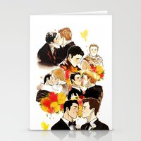 klaine Stationery Cards featuring klaine throughout the seasons by suitfer