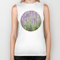 lavender Biker Tanks featuring Lavender by A Wandering Soul