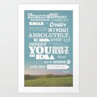 Creative Reassurance  Art Print