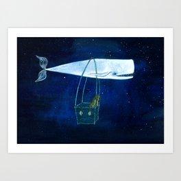 Flying the ocean Art Print