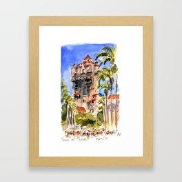 Tower of Terror Framed Art Print