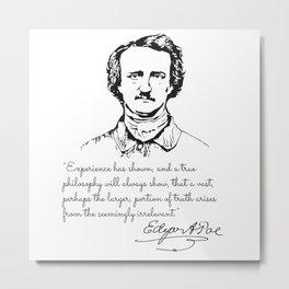 Edgar Allan Poe rare photo Metal Print