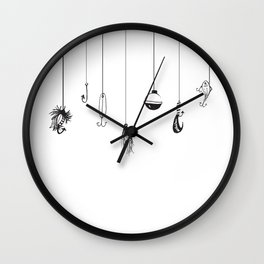 Fishing Lures Wall Clock