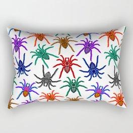 Spiders Colorful Halloween Tarantulas Pattern Rectangular Pillow