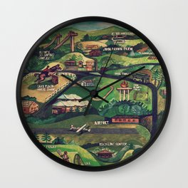 Lake Placid | Jumps & Horses Wall Clock
