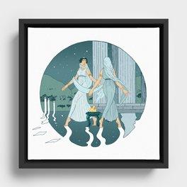 Dance at midnight Framed Canvas