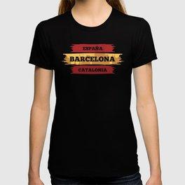 Barcelona Catalonia Spain design I Viva ESPANA Vacation T-shirt