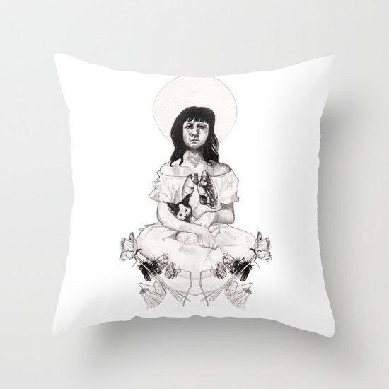 The Girl With Half a Lung Throw Pillow