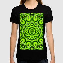 Spring Garden Mandala, Abstract Star Burst Delightful Spirals T-shirt