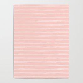 Simple Rose Pink Stripes Design Poster