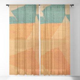 A Água e o Minério (The Water and the Ore) Sheer Curtain
