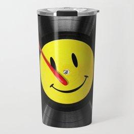 """""""Bloody Turntable"""" Watchmen fan art Travel Mug"""