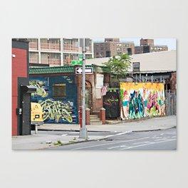 AT THE CORNER Canvas Print