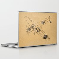 airplane Laptop & iPad Skins featuring Airplane diagram by marcusmelton