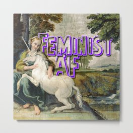 Feminist AF Metal Print