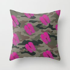 I saw Cady Heron wearing army pants and flip flops ... - quote from Mean Girls Throw Pillow