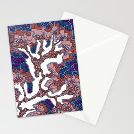 Wandering Abstract Line Art 40: Purple Stationery Cards