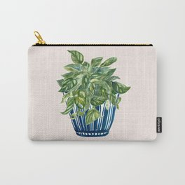 Pothos in Blue Bowl Carry-All Pouch