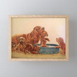 Bath Time Framed Mini Art Print