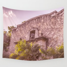Palm Tree Summer - The Alamo Wall Tapestry