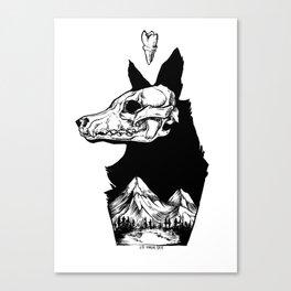 Black Wolf Mountain Canvas Print