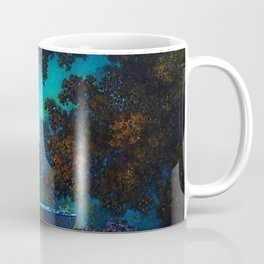 Blue Fountain at Twilight by Maxfield Parrish Coffee Mug