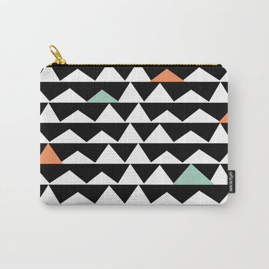 Tribal Triangles, Geometric Aztec Andes Pattern Carry-All Pouch