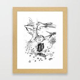 Deuxième hiver Framed Art Print