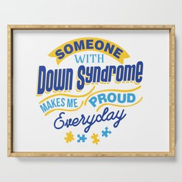 Down Syndrome Awareness Support Trisomy 21 Gift Serving Tray