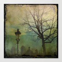Canvas Prints featuring Once pon a time a park in Barcelona by Victoria Herrera