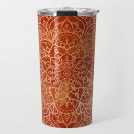Orange Mandala Travel Mug